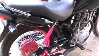 getlinkyoutube.com-Honda CG FAN 125 COM SUSPENSÂO A AR