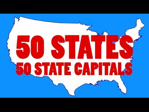 Learn the 50 US State Capitals and 50 State Abbreviations | 50 States Song