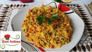 getlinkyoutube.com-طريقة عمل أرز بالخضر  في عشر دقائق riz aux légumes