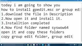 getlinkyoutube.com-How To Install gpedit.msc on windows 10 & 8.1 (2016 working)