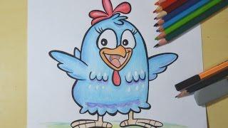 getlinkyoutube.com-Como desenhar a Galinha Pintadinha (passo a passo)