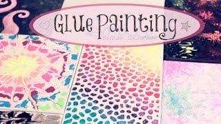 getlinkyoutube.com-DIY Glue Painting - Water Marble, Tie Dye, & More - How To