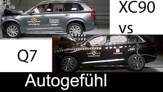 getlinkyoutube.com-All-new Volvo XC90 vs all-new Audi Q7 crash test comparison Euro NCAP 5stars - Autogefühl