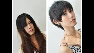getlinkyoutube.com-ドライカット|ロングヘアーからショートカットへ|沖縄県宜野湾市の美容室ファイヤーヘッド