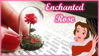 """Beauty & The Beast"" Miniature Enchanted Rose Terrarium, Polymer Clay Tutorial || Maive Ferrando"