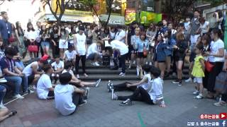 getlinkyoutube.com-춤추는곰돌【(1)6월27일 홍대! 두 커플의 뽀뽀vs키스 엽기 커플이벤트】