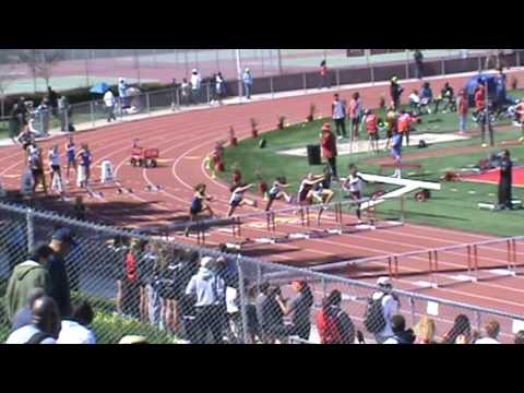 Redondo Invitational: Girls 100 Hurdles Heat 5