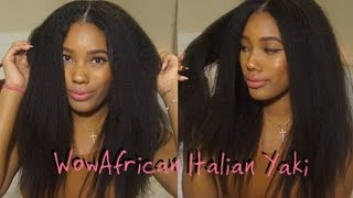 getlinkyoutube.com-WOWAFRICAN: BRAZILIAN VIRGIN HAIR, LACE FRONT WIG, ITALIAN YAKI