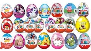 getlinkyoutube.com-100 Surprise eggs Unboxing Kinder Surprise Маша и Медведь My Little Pony BMW Chupa Chups