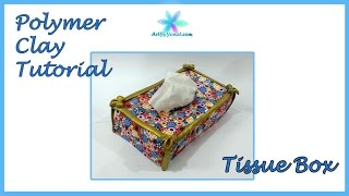 getlinkyoutube.com-Polymer Clay Tutorial - Tissue Box - Lesson #47
