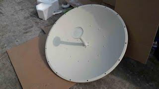 getlinkyoutube.com-UBNT 35.1 KM PTP Radio Link By Rocket 5AC Lite with 30dBi Dish