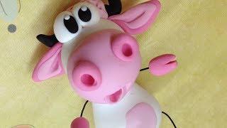 getlinkyoutube.com-Polymer clay/Fimo Tutorial- pink cow/vaquinha rosa
