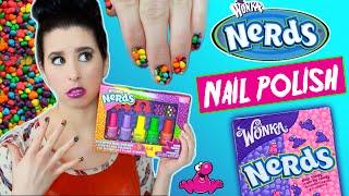 getlinkyoutube.com-Nerds Candy Scented Nail Polish! | Tutorial | Smell Test | Willy Wonka's Nerd Nail Polish Demo!