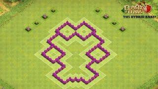 getlinkyoutube.com-Clash of Clans - TH5 Hybrid Base!! ( Anti Giant,Healer)