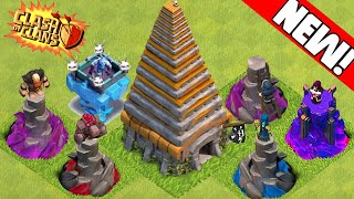 getlinkyoutube.com-Clash of Clans - NEW 2016 UPDATE! Town Hall 11, Golem Tower, Witch Tower & New Towers! Update Ideas!