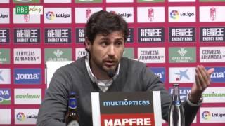 Resumen de las declaraciones de Ángel Haro, Víctor, Cejudo y R. Pardo tras el Granada-Betis