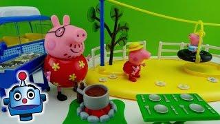getlinkyoutube.com-Peppa Pig va de Camping Peppa Pig Goes Camping Playset - Juguetes de Peppa Pig
