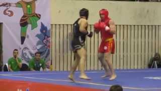 getlinkyoutube.com-13th World Wushu Championships, Sanda Men 80kg RUS Muslim SALIKHOV.v.ALG Moumou ABDELHAKIM
