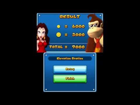 Mario and Donkey Kong: Minis on the Move - Minigame - Elevation Station 1 - 9000 (Perfect Score)
