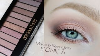 getlinkyoutube.com-makijaż delikatny / dzienny / ślubny /  ** Makeup Revolution ICONIC 3 ** makeup tutorial