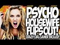 COD BO2: PSYCHO HOUSE WIFE FLIPS OUT!! CRAZY GIRL GAMER TROLLED! FLASHBANG TROLLING