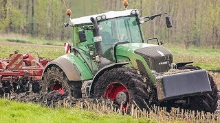 getlinkyoutube.com-Fendt 936 & John Deere 6R | working in the mud | AgrartechnikHD