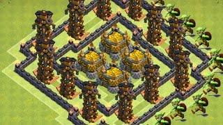 getlinkyoutube.com-Clash of Clans - Th10 Farming Base New Update 275 walls