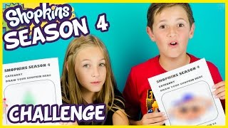 getlinkyoutube.com-SHOPKINS SEASON 4 DRAWING CHALLENGE! + Shopkins Season 3 Blind Baskets Opening. Idea by PLP TV