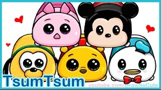 getlinkyoutube.com-How to Draw Disney Tsum Tsum Cute and Easy step by step
