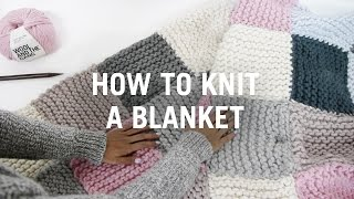getlinkyoutube.com-How to Knit a Blanket - Step By Step