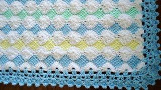 getlinkyoutube.com-Borde en crochet para la mantita de bebé.  Parte 1