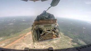 Humvee Airdrop From C-17 width=