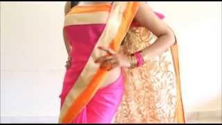 getlinkyoutube.com-Perfect Bollywood Style Saree Wearing:Quick Stylist Sari Draping Method