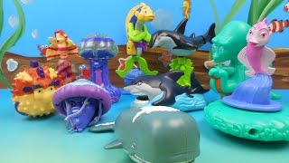 BURGER KING'S SHARK TALES SET OF 10 KIDS MEAL TOYS VIDEO REVIEW