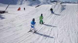 Timo Maszewski & friends - Freestyle skiing - Val Thorens Snowpark - Young skier