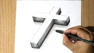 getlinkyoutube.com-Como Dibujar una Cruz -  How to Draw a cross - Como Dibujar a Jesus