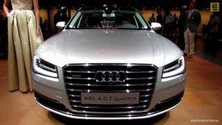 getlinkyoutube.com-2014 Audi A8L 4,0T Quattro - Exterior and Interior Walkaround - 2013 Frankfurt Motor Show