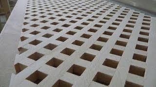getlinkyoutube.com-Изготовление деревянной решетки (обычная)