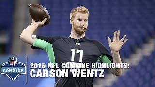 Carson Wentz (North Dakota St., QB) | 2016 NFL Combine Highlights
