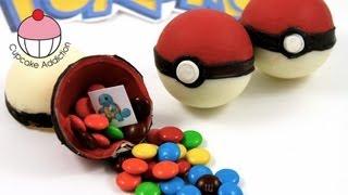 getlinkyoutube.com-Candy Pokeballs! Make Edible Pokemon Pokeballs - A Cupcake Addiction How To Tutorial