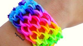 getlinkyoutube.com-PULSERA de GOMITAS Escamas de dragón (con tenedores) - Rainbow loom