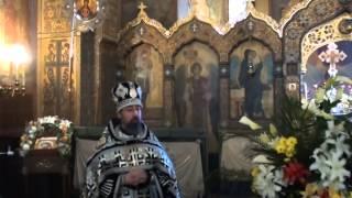 Вынос Святой Плащаницы и проповедь архимандрита Филиппа (Васильцева)