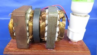 DIY Electric Free energy generator 240 Volts to DC 12V - Science Experiment at School 2018 width=