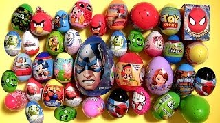 40 Surprise Eggs Minecraft Kinder Peppa Pig Frozen Marvel Cars2 Angry Birds Mickey Screaming Banshee