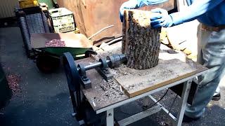 getlinkyoutube.com-【スクリュー】【ユニコーン】【ネジ式】自作薪割り機【wood splitter】【unicorn log splitter】