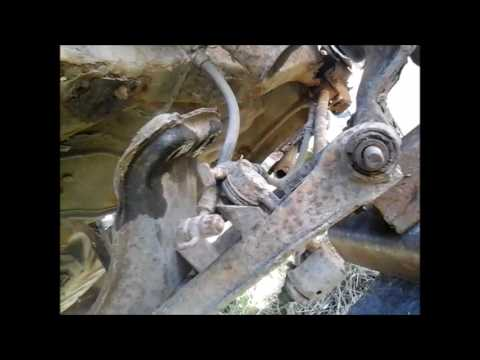 Снятие всей задней подвески... Mazda Xedos 6