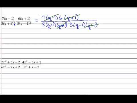 Rational Expressions - Multiply
