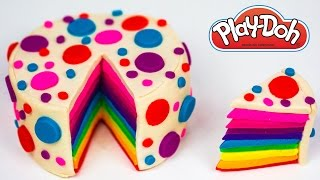 getlinkyoutube.com-Play Doh Cake Rainbow Cake How to Make Rainbow Play Doh Cake Play Doh Food Kitchen