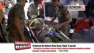 Askeri Araç Takla Attı: 3 Asker Yaralandı