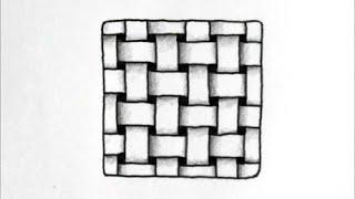 [だれでも描ける!線画アート] ダブリュスクエアーという立体的な絵の描き方 [ゼンタングル]  How to draw zentangle